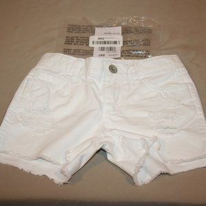 CHILDRENS PLACE 6S White Jean Distressed Shorts